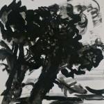 FritzAscher_TwoTrees_ca1960_Blackinkonpaper_15.6x11.6in_39.5x29.5cm_Privatecollection_P1090239